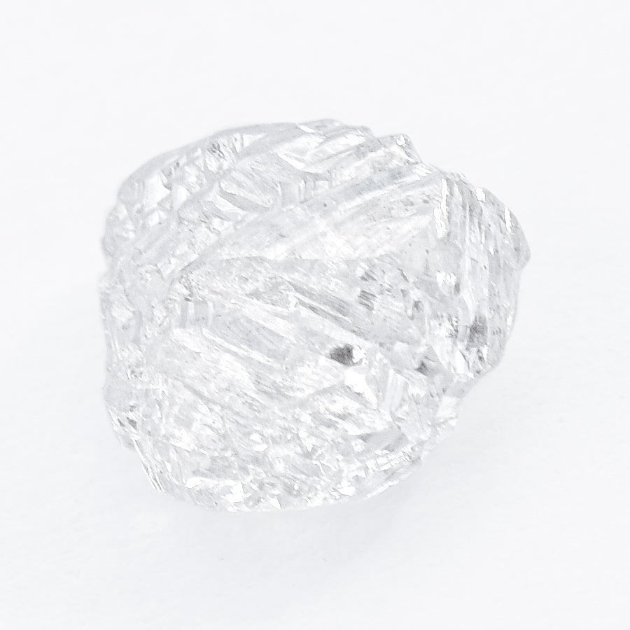 1.29 carat clear and geometrical white raw diamond maccle