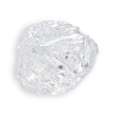14.43 carat white and sparkly freeform raw diamond parcel