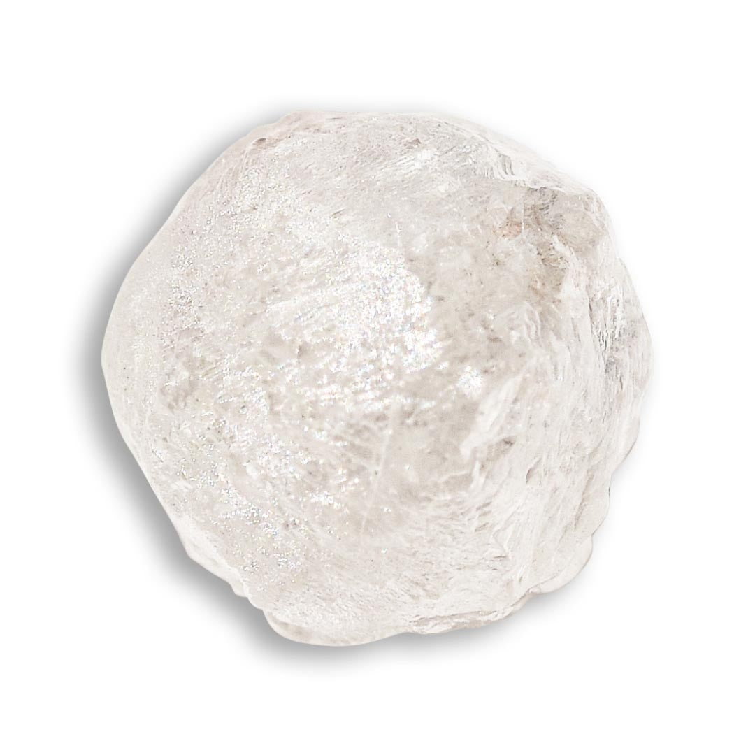 1.61 carat round and bright raw diamond