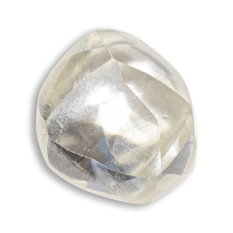 1.18 carat limey dodecahedral raw diamond
