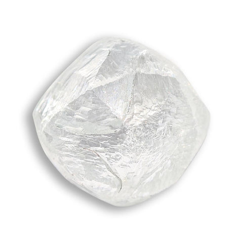 0.93 carat light green raw diamond rhombododecahedron