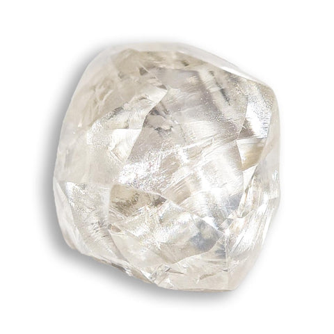 0.86 carat fancy and waterlike rough diamond dodecahedron