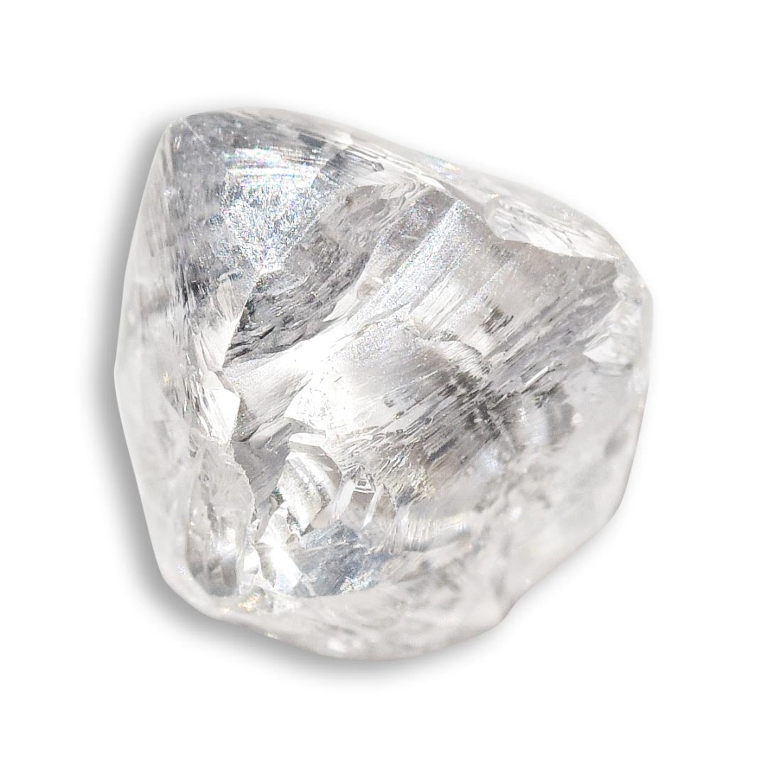 1.23 carat triangular shaped rough diamond