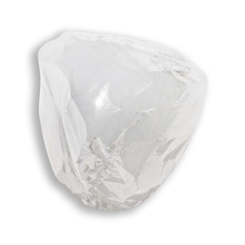 2.17 carat white and glimmery rough diamond triangle or maccle