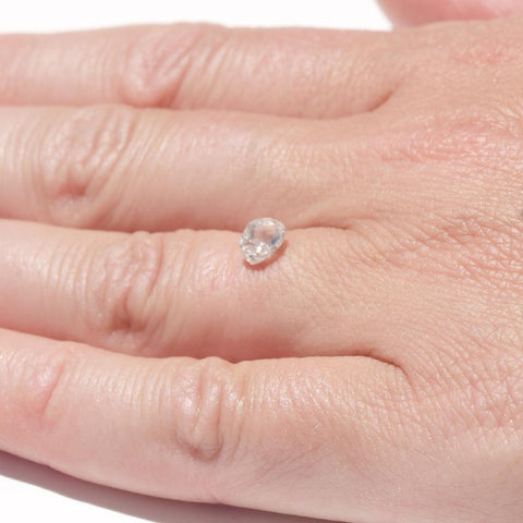 0.69 carat bright white raw diamond freeform crystal