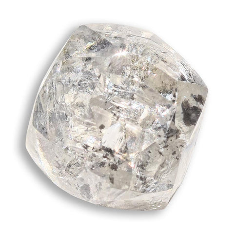 1.16 carat sparkly salt and pepper dodecahedral rough diamond