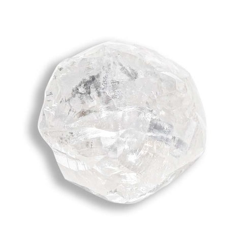 2.42 carat silver rough diamond octahedron