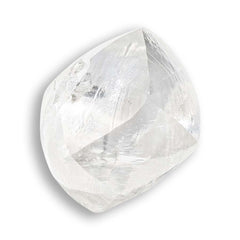 0.70 carat smooth and bright rough diamond dodecahedron
