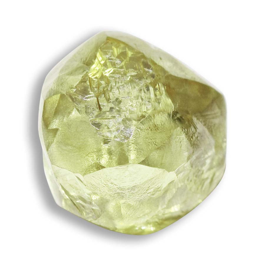 1.40 carat olive green and rounded rough diamond