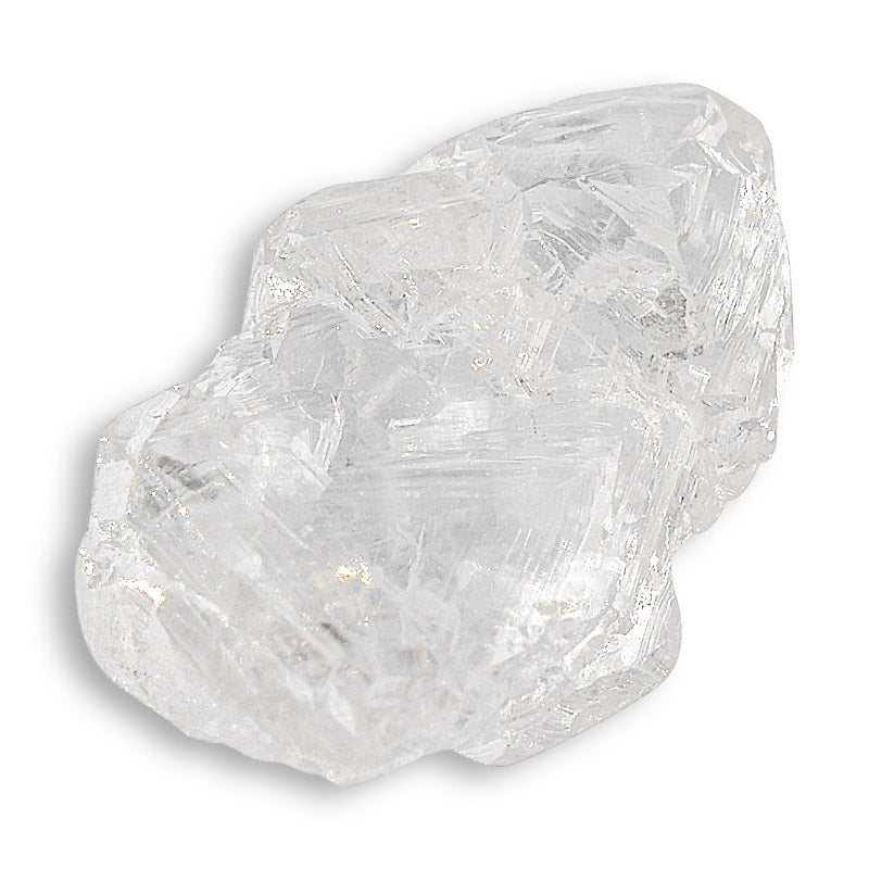 1.18 carat geometrical and bright raw diamond