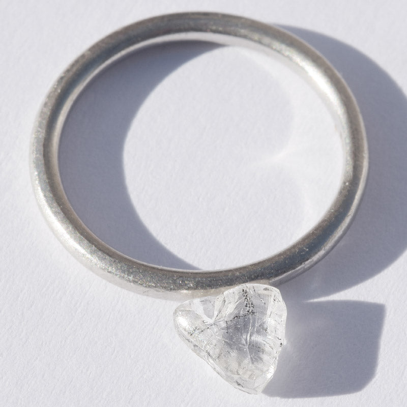 1.02 carat beautiful and slightly oblong triangular rough diamond
