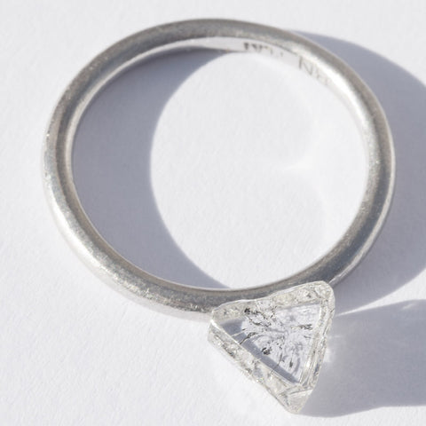 1.30 carat unique raw diamond maccle/triangle