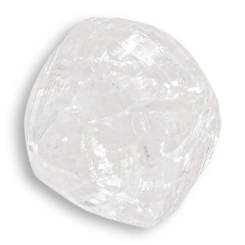 1.75 carat flat-backed and bright raw diamond octahedron