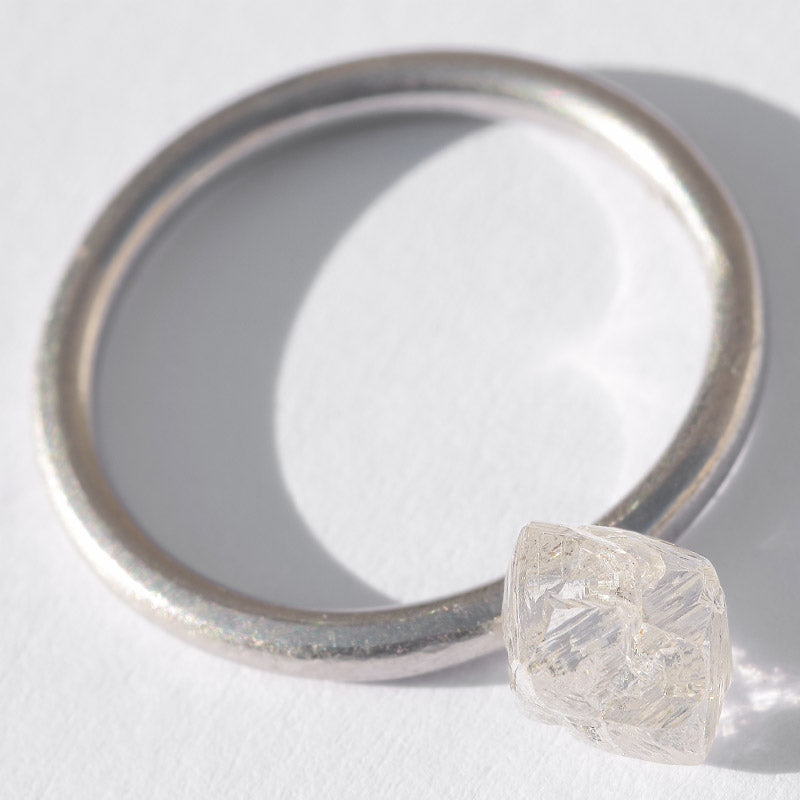 1.53 carat gorgeous, proportional rough diamond octahedron