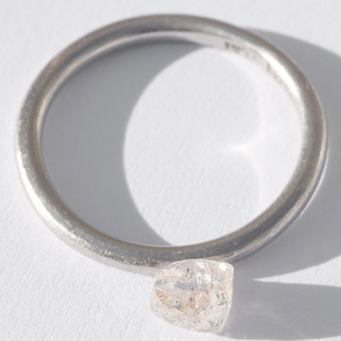 0.74 carat magical freeform rough diamond