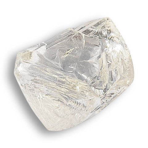 0.84 carat classic and nicely constructed octahedral rough diamond