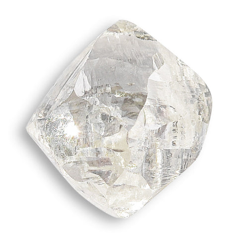 1.16 carat light and waterlike rough diamond dodecahedron