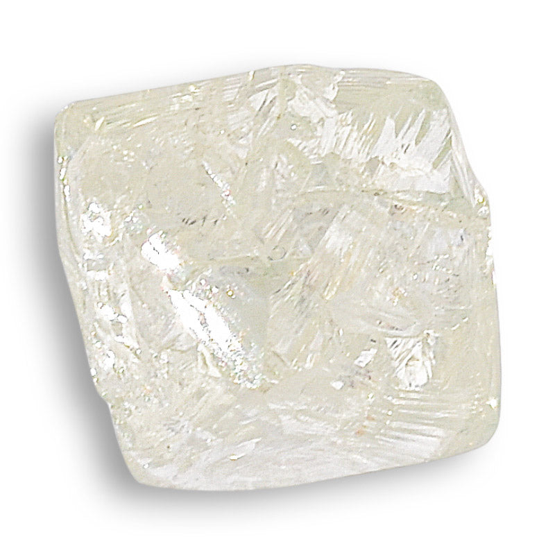 1.36 carat rare light green rough diamond octahedron