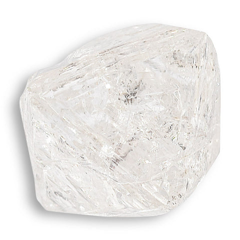 1.04 carat clean, clear and proportionate raw diamond octahedron