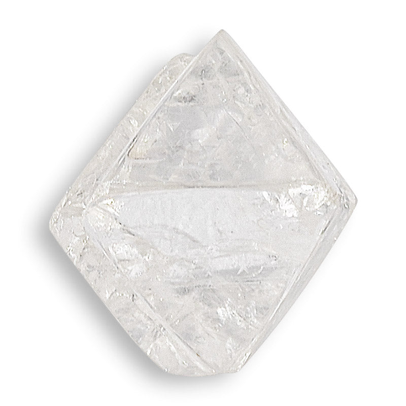 1.63 carat classic and excellent raw diamond octahedron