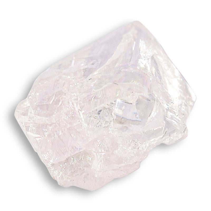 1.115 carat light purple-silver freeform raw diamond