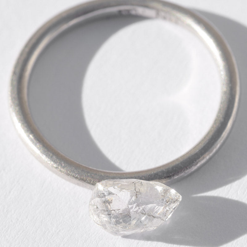 1.04 carat freeform and oblong rough diamond