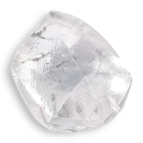0.67 carat offset rhombododecahedral rough diamond