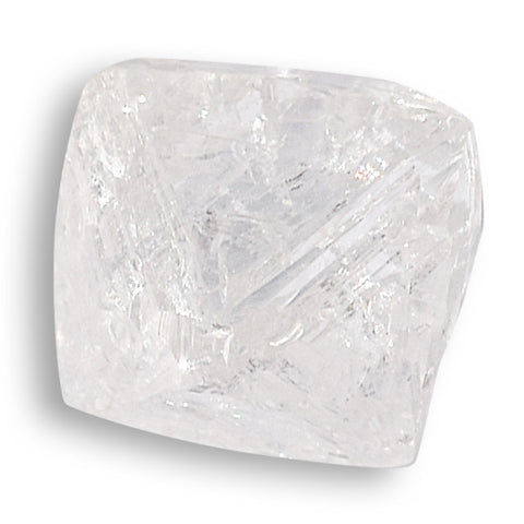 0.81 carat near perfect rough diamond octahedron