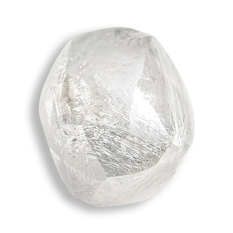 0.90 carat flawless white rough diamond dodecahedron