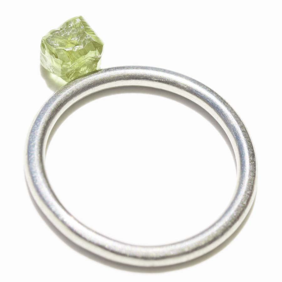 1.04 carat green raw diamond cube