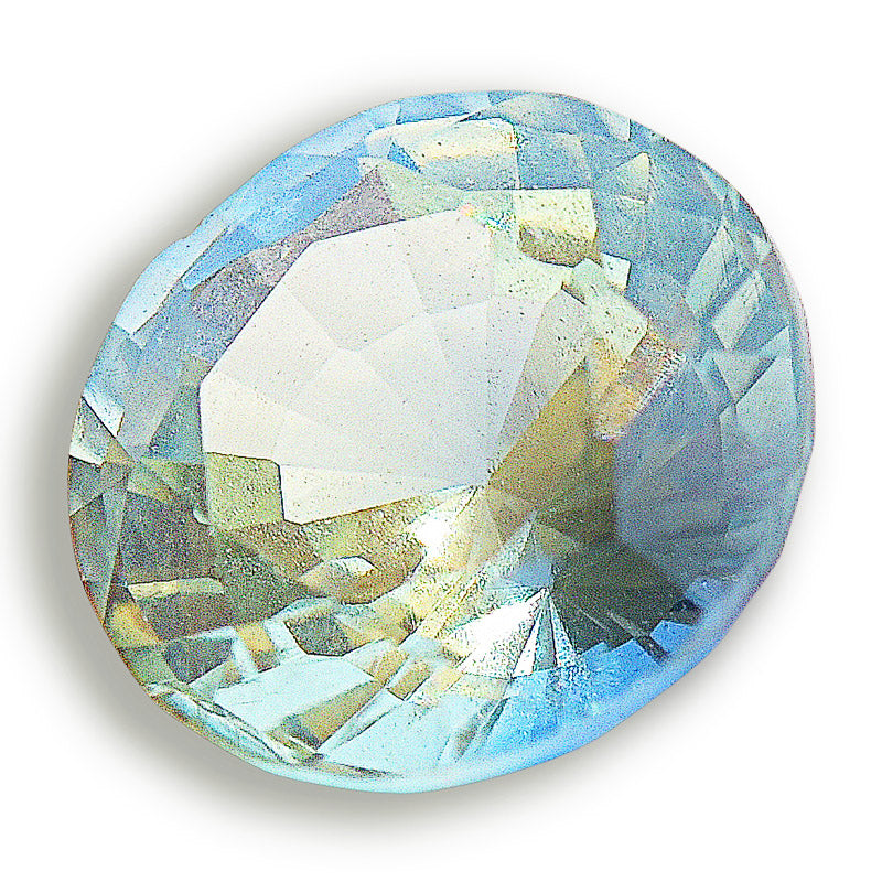 Multihued Blue-Green Sapphire from Sri Lanka - 0.32 carats