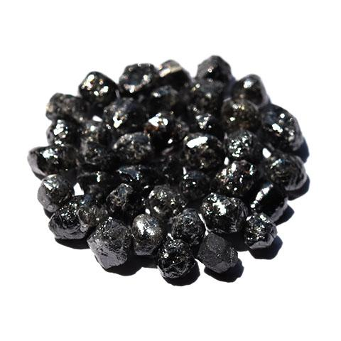 Black raw diamonds - we pick one piece from the parcel for you - Average 1.00 carat each Raw Diamond South Africa