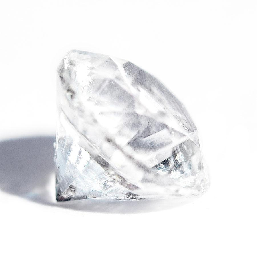 Bright White 6mm Round Ceylon Sapphire cut Sri Lanka