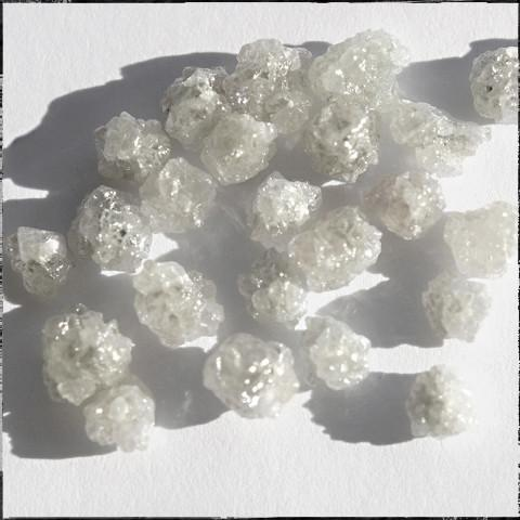 Rough diamond boart bright white - we pick one piece from this parcel for you - around .75 carats each Raw Diamond South Africa