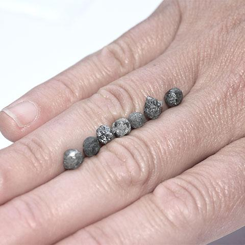 Round Moonlike Raw Diamonds - we pick one piece from the parcel for you - Average 1.0 carat each Raw Diamond South Africa