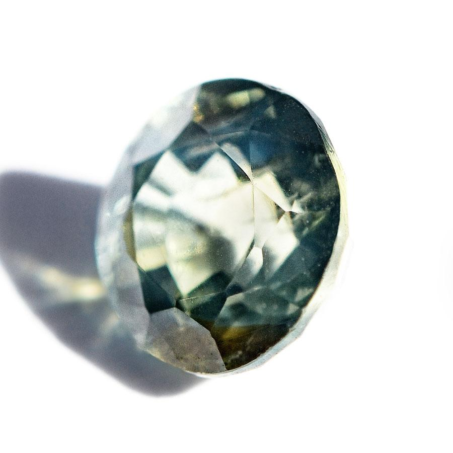 Round Responsibly Sourced Green Ceylon Sapphire 0.60 carats cut Sri Lanka