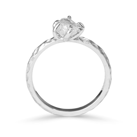 Ruah Ring - A natural raw diamond or raw sapphire engagement ring Rings The Raw Stone