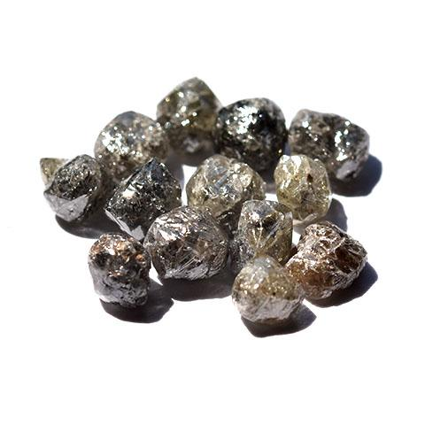 Salt and Pepper Raw Diamonds - we pick one piece from the parcel for you - Average 0.80 carat each Raw Diamond South Africa