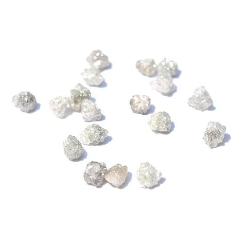 White and silver natural rough diamonds - we pick one piece from this parcel for you - around 0.75 carats each Raw Diamond South Africa
