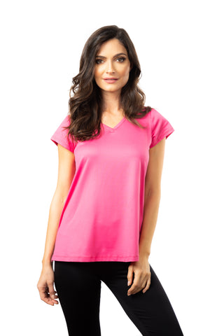 The A-Line Cap Sleeve V-Neck