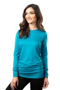 The Long Sleeve Rouched Top