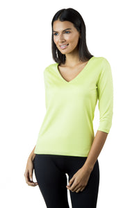The 3/4 Sleeve V-Neck