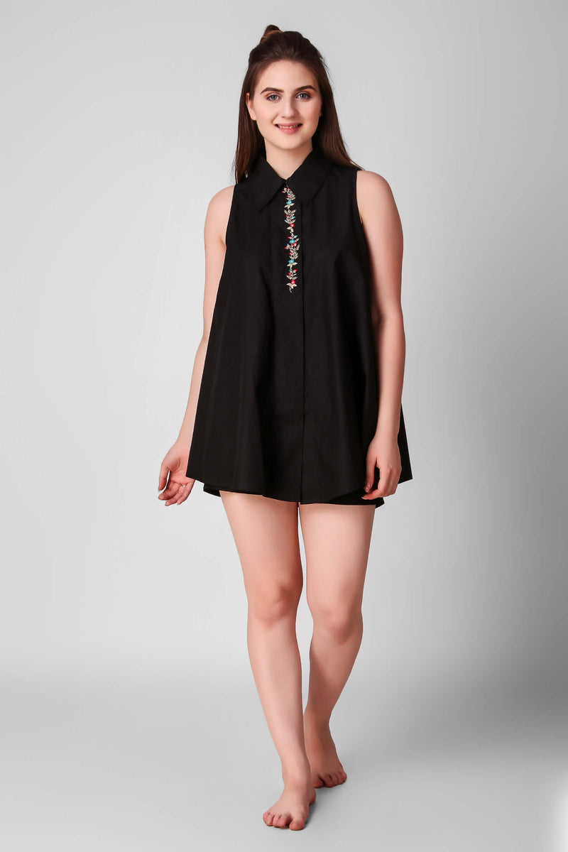 Darcy, Embroidered Top & Shorts