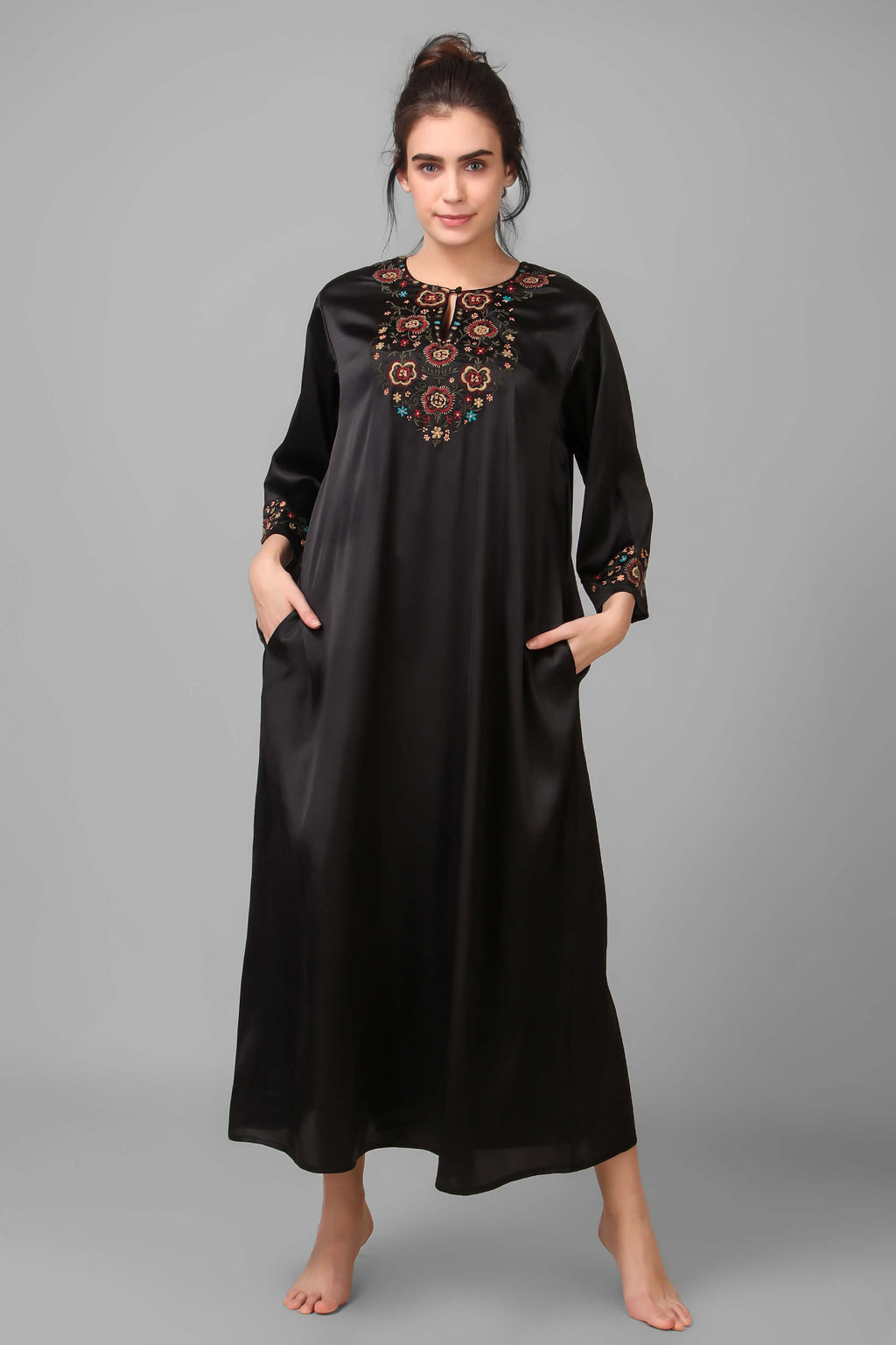 Boho-Chic, Embroidered Kaftan