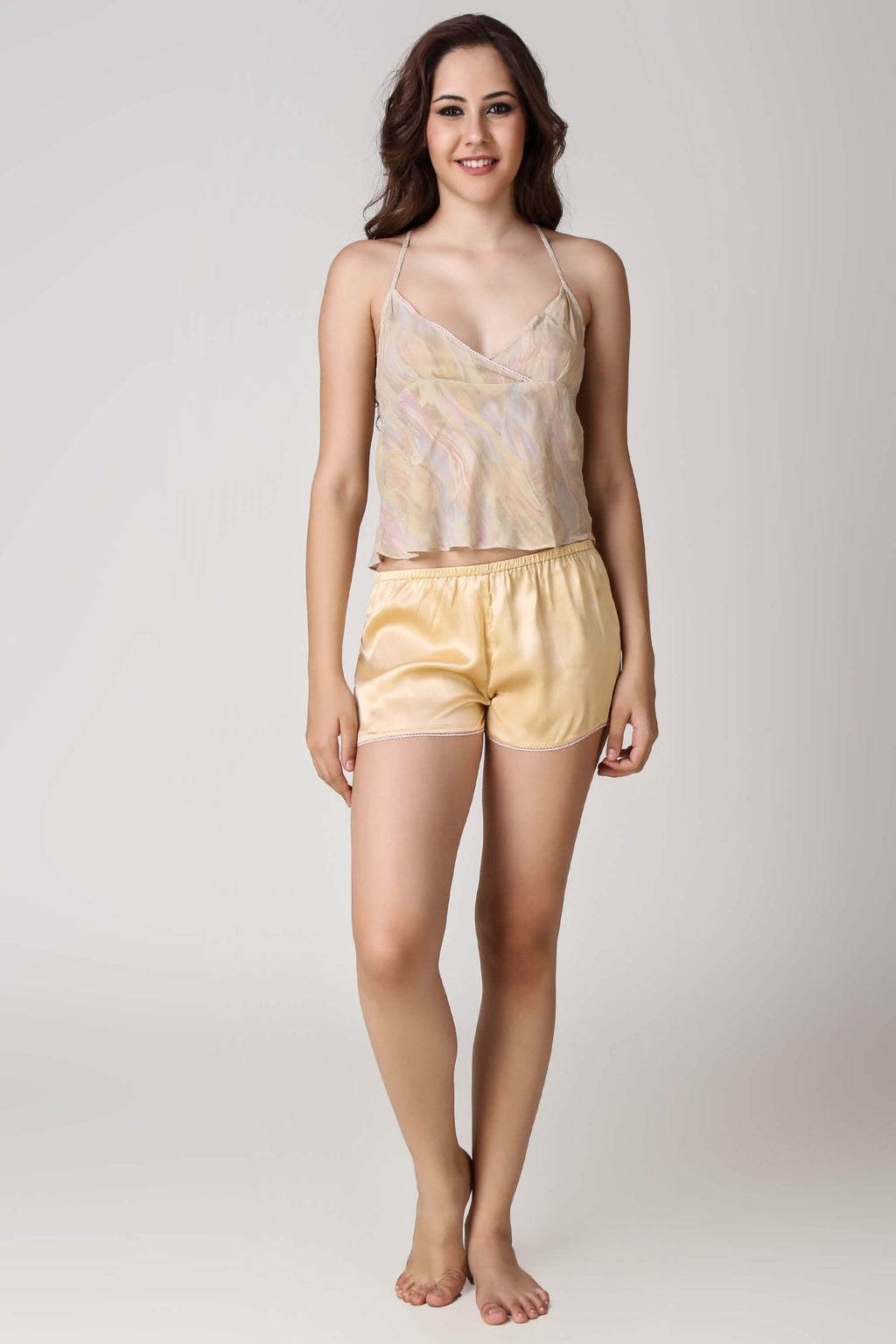 Iris, Sheer Top & Shorts