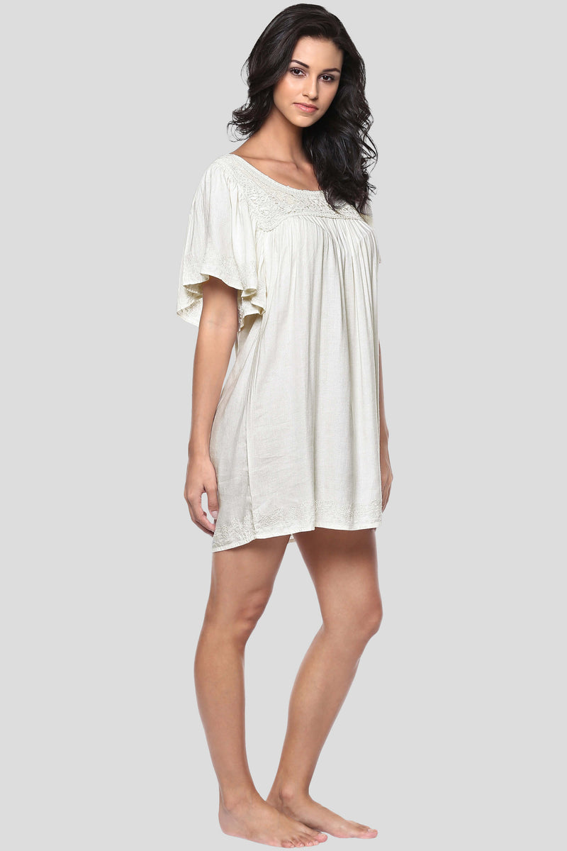 Daya, Embroidered Night Dress
