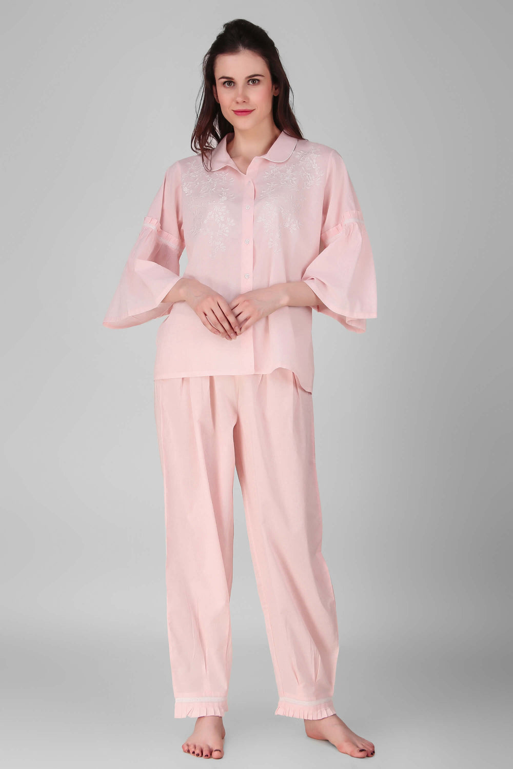 Jasmine Embroidered Pyjama Suit