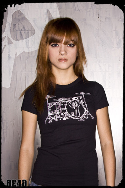 Women's Drums T-Shirt Playdead Cult