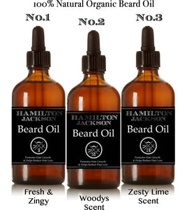 3 Set Beard Oils With Free Wooden Comb -  Hamilton Jackson