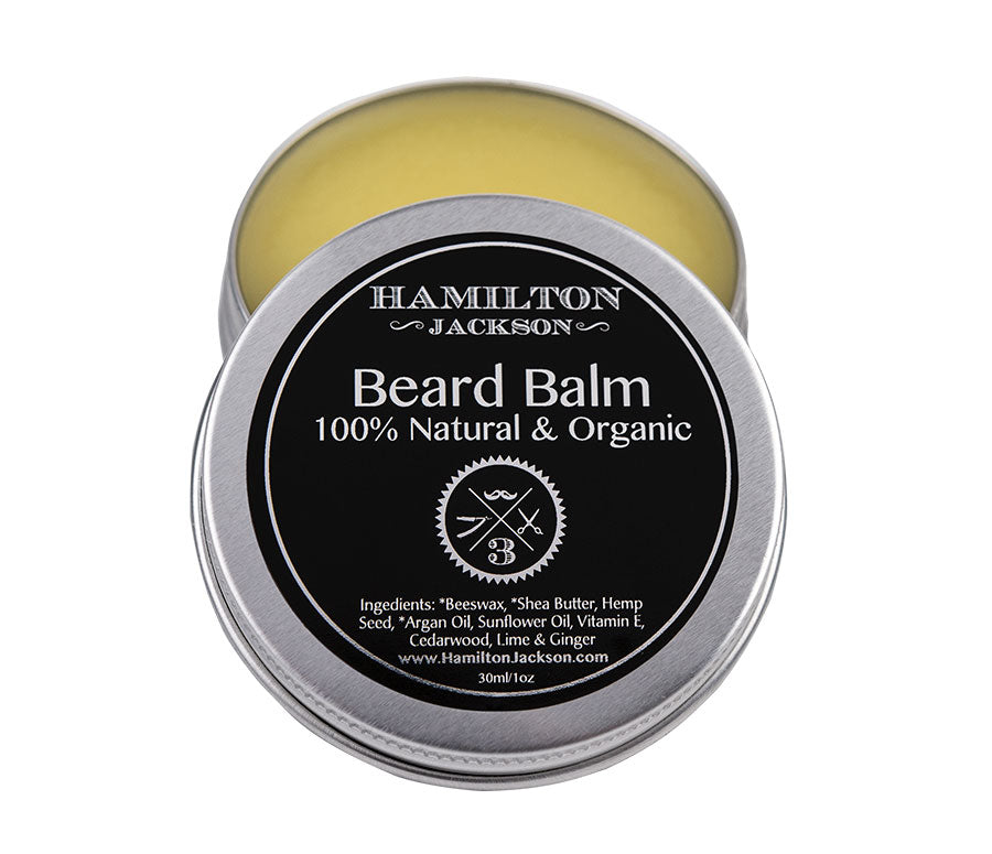 No3 Beard Balm Lime, Ginger and Cedarwood Scent Handcrafted 100% Natural